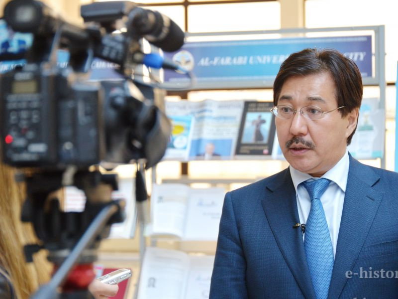 """The works of Al-Farabi are important for people""- G. Mutanov the Rector of the Kazakh National University named after Al-Farabi"