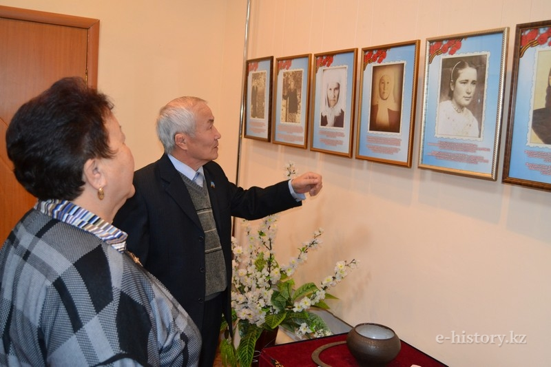 The War Did Not Have a Woman's Face photo exhibition in Kokshetau