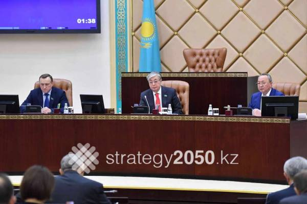 Parliament adopted more than 100 laws to implement National Plan All rights reserved. Any use of the materials published on www.strategy2050.kz for any purpose except personal needs is possible only with placing a hyperlink to the strategy2050.kz website